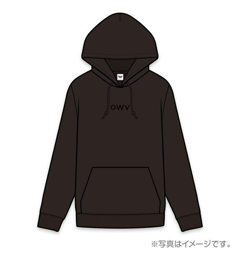 OWV刺繍入りパーカー(ブラック)